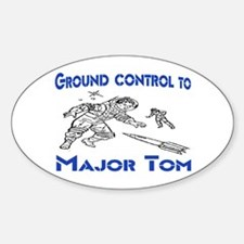 MAJOR TOM Sticker (Oval)