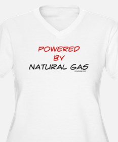 Powered by natural gas Plus Size T-Shirt