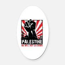 Funny Free palestine Oval Car Magnet