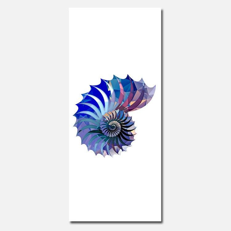 Mosaic Polygon Blue & Purple Nautilus Shell Invita