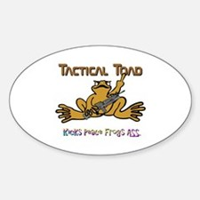 Tactical Toad Sticker (Oval)