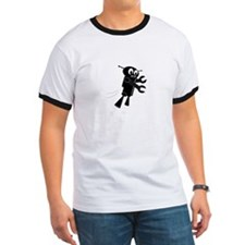 Black Flying Robo T-Shirt