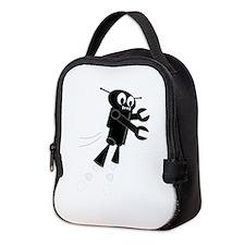 Cute Robots Neoprene Lunch Bag