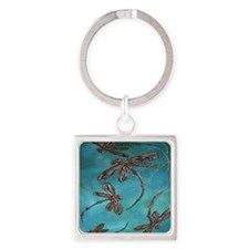 Dragonfly Flit Turquoise Keychains