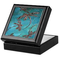 Dragonfly Flit Turquoise Keepsake Box