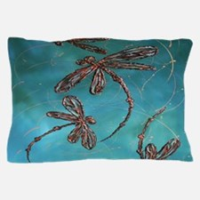Dragonfly Flit Turquoise Pillow Case