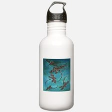 Dragonfly Flit Teal Sports Water Bottle