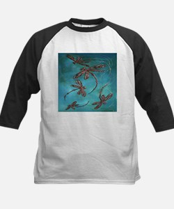 Dragonfly Flit Turquoise Baseball Jersey