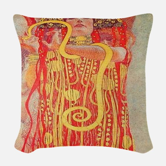 Medicine Woman Woven Throw Pillow