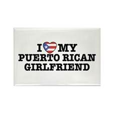 I Love My Puerto Rican Girlfriend Rectangle Magnet