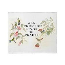 Hummingbirds Creation Song Throw Blanket