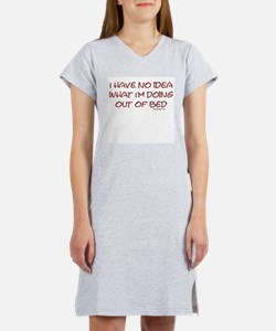 Funny Morning person Women's Nightshirt