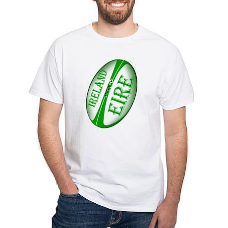 Irish Rugby Ball White T-Shirt