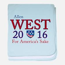 allen west 2016 baby blanket