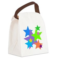 Stars Design Canvas Lunch Bag
