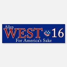 allen west 2016 Bumper Bumper Sticker