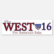 allen west 2016 Bumper Bumper Sticker