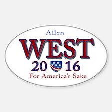 allen west 2016 Sticker (Oval)