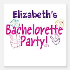 """Bachelorette Party (p) Square Car Magnet 3"""" X"""