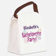 Bachelorette Party (p) Canvas Lunch Bag