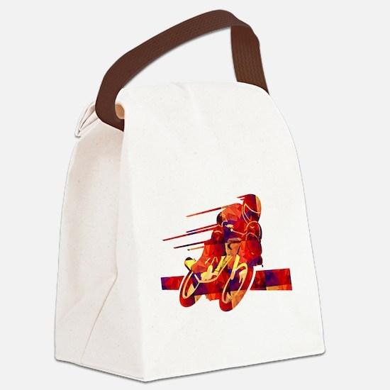 Funny Biker Canvas Lunch Bag