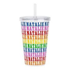 Rainbow Natalie Pattern Acrylic Double-wall Tumble