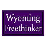 Wyoming Freethinker Sticker
