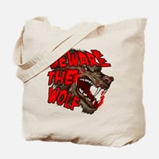 Cute Beware the wolf Tote Bag
