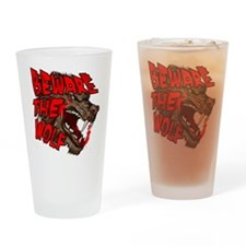 Unique Beware the wolf Drinking Glass
