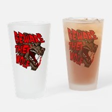 Cute Beware the wolf Drinking Glass