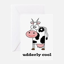 Udderly Cool Greeting Card