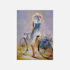 Vintage Bicycle 5'x7'Area Rug
