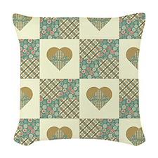 HEART QUILT Woven Throw Pillow