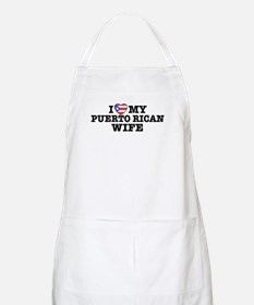 I Love My Puerto Rican Wife BBQ Apron