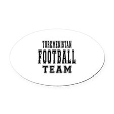 Turkmenistan Football Team Oval Car Magnet