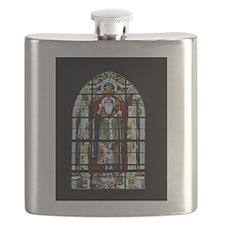 Saint Anatole Stain Glass Flask