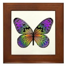Rainbow Butterfly Framed Tile