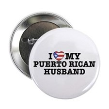 I Love My Puerto Rican Husband Button