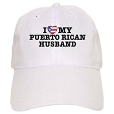 I Love My Puerto Rican Husband Baseball Cap