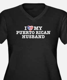 I Love My Puerto Rican Husband Women's Plus Size V