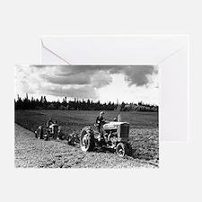 Plowing in 1950 Greeting Card