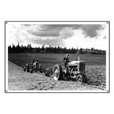 Plowing in 1950 Banner