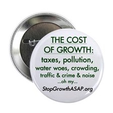 """2.25"""" Button (10 pack)- The Cost of Growth"""