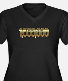 I am one in a million gold Plus Size T-Shirt