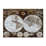 Antique map 5x7 Rugs