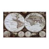 Old world map 3x5 Rugs