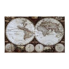 Ancient World Map 3'x5' Area Rug