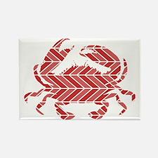 Chevron Crab Rectangle Magnet
