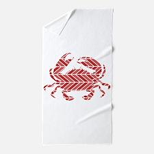Chevron Crab Beach Towel