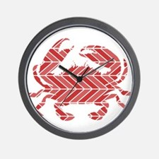 Chevron Crab Wall Clock